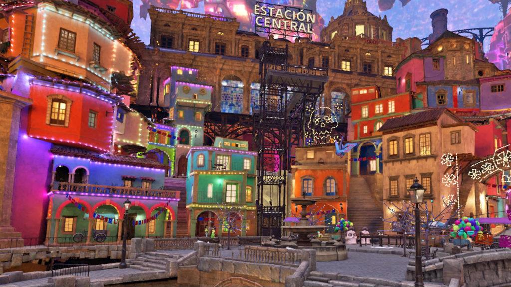 La place centrale du jeu Coco VR