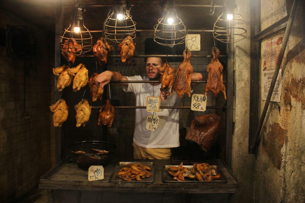 Du poulet dans une salle d'arcade ?
