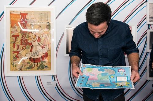 La carte du chapelier toqué - exposition Alice Wonderland